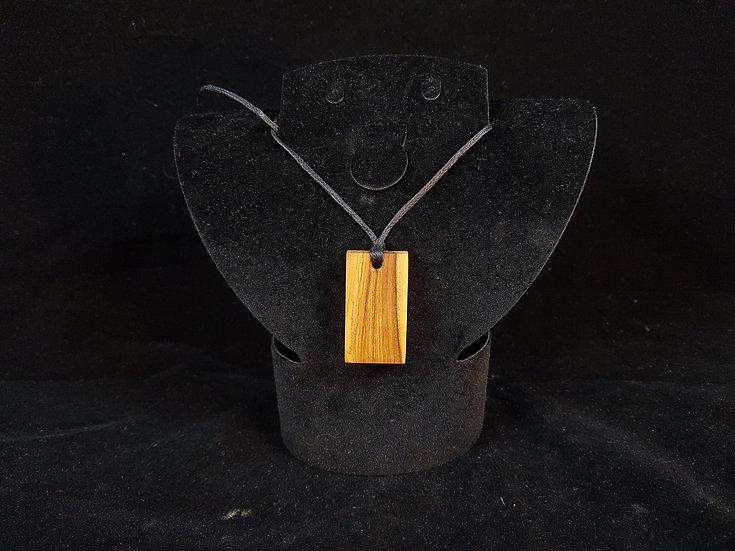 Olive wood necklace #1