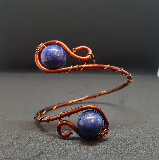 Lapis Lazuli wire bracelet