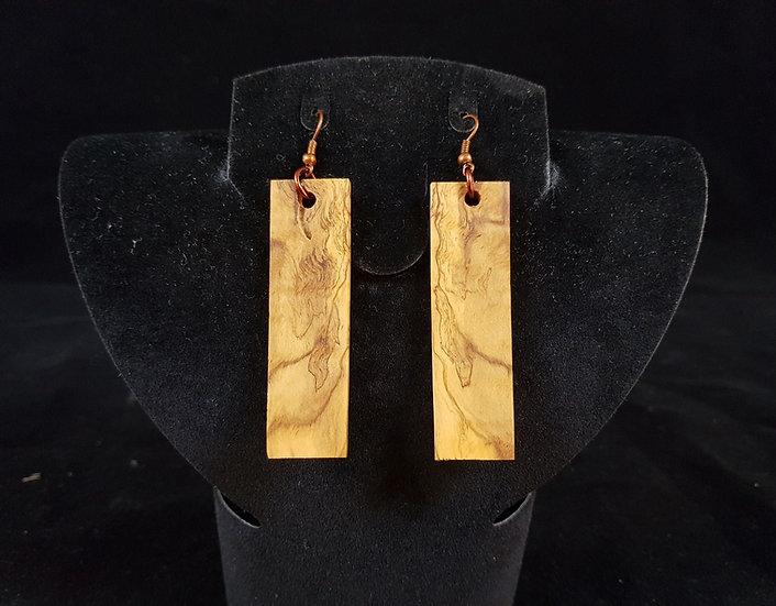 Olive wood earrings #8