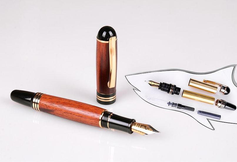 Churchill Fountain Pen Kit - 24K Gold