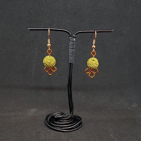Green lava earrings