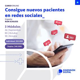 ¡Consigue nuevos pacientes en redes sociales!