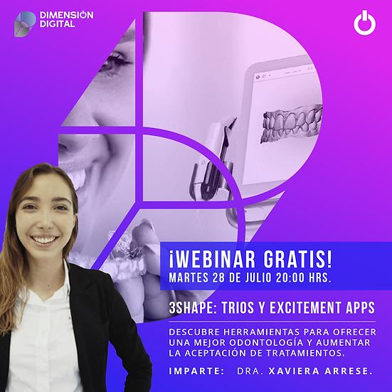 ¡Webinar gratis!  3shape: Trios y Excitement Apps