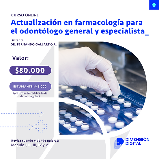 Actualización en farmacología para el odontólogo general y especialista