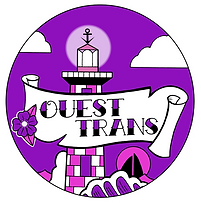 badge ouest trans magenta violet avec te