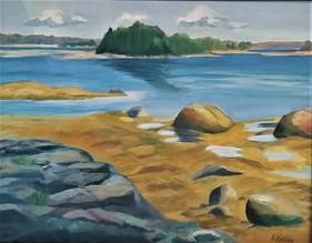 Low Tide on Flander's Bay.  Oil on Canvas