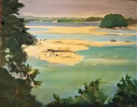Flanders Bay Before Rain.  Oil on Canvas