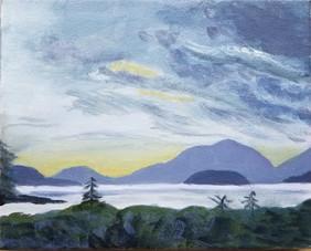 Acadia Mountains.  Oil on Canvas