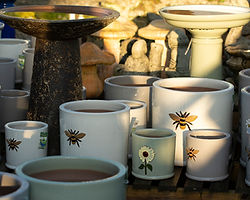 New pots and bird baths