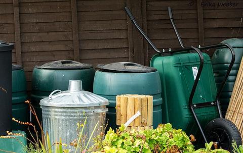 Waterbutts, wheelbarrows, incinerators