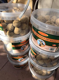tubs of wild bird fatballs.jpg