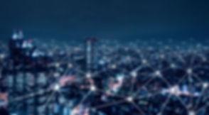 Telecommunication network above city, wi