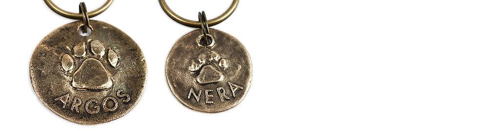 Bronze pet name tag