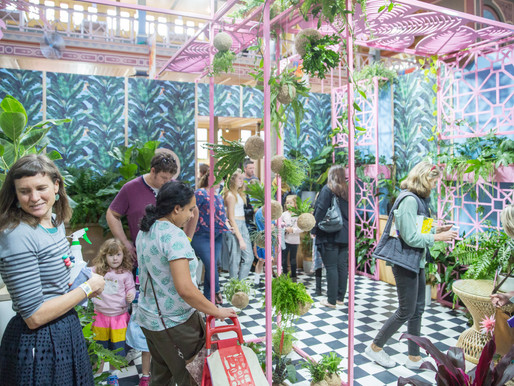Going indoors with 'her indoors' at the Melbourne garden show