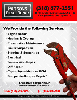 Diesel Repair - Flyer