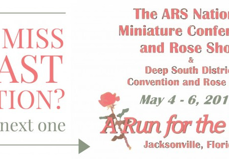 2018 National Miniature/Miniflora Conference, Rose Show & Deep South District Conference