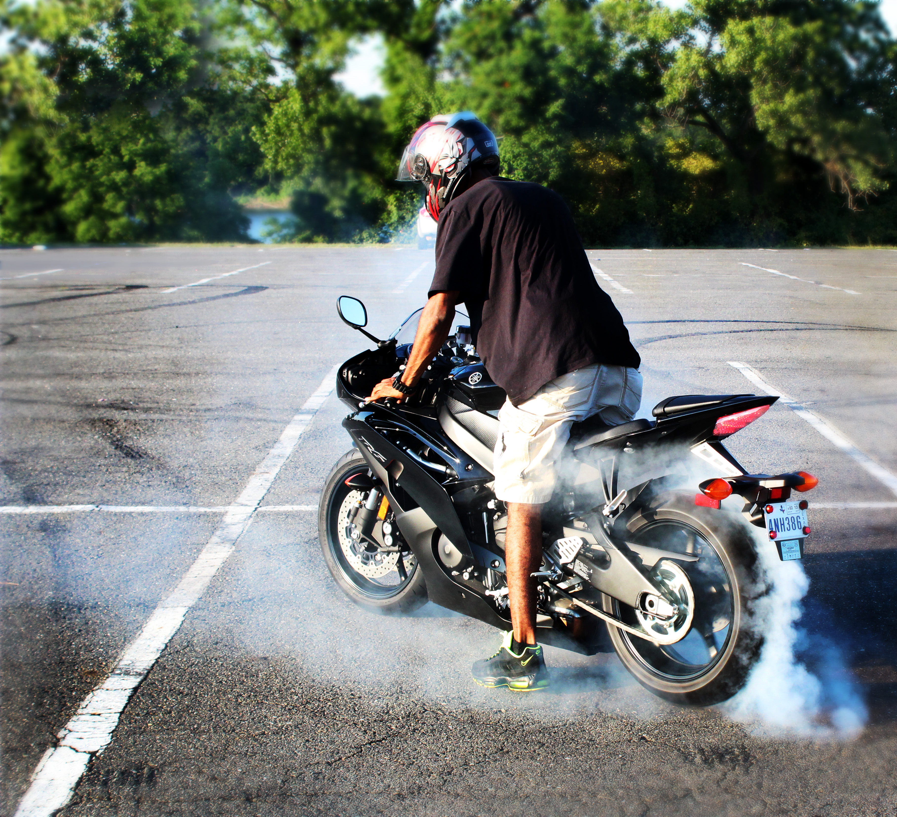 Burn Out - Motorcycle Photography
