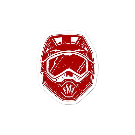 T.F.C Helmet Sticker Red