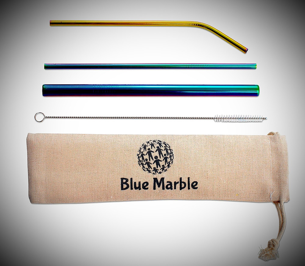 Rainbow straws from Blue Marble