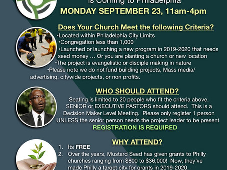 PCC, Community Healing 4 All, & In The Light, Host Mustard Seed Foundation Grant Information Event