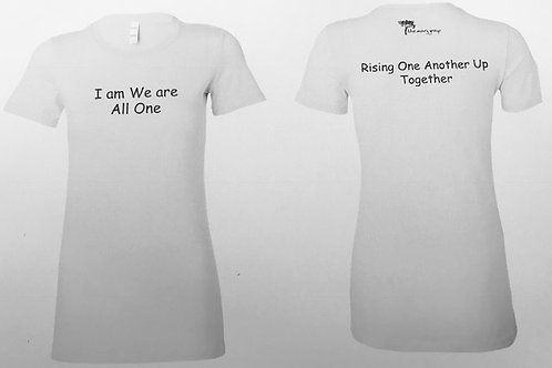 Women's Cut T-Shirt - Rising one another Up