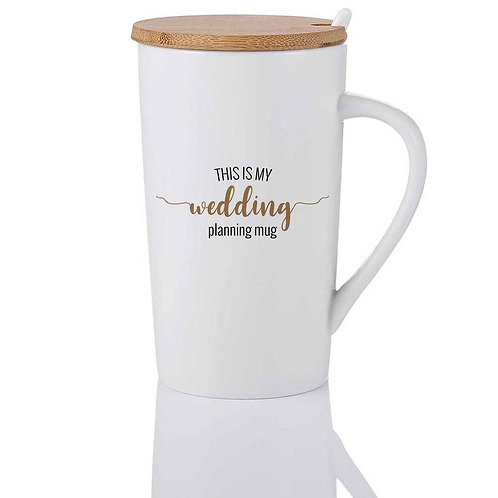 THIS IS MY WEDDING PLANNING MUG Cup with Lid & Spoon