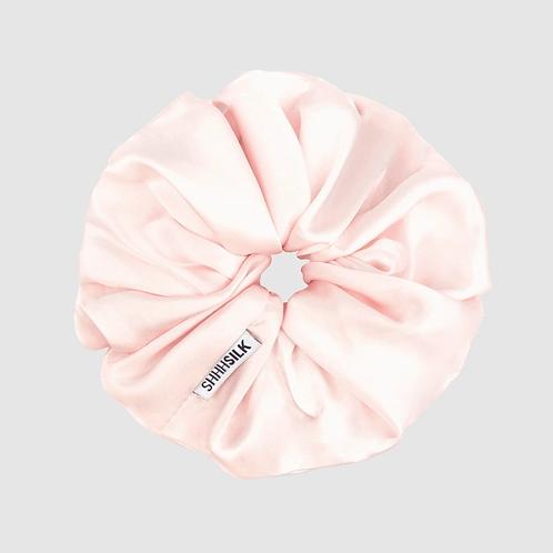 Oversized Pink Silk Scrunchie