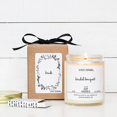 "BRIDE ""Bridal Bouquet"" Scented Soy Candle"