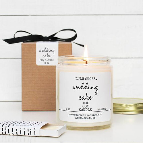 """""""Wedding Cake"""" Scented Soy Candle"""