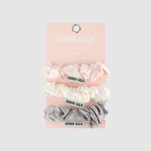 3 Pack Mixed Medium Silk Scrunchies