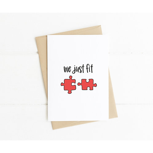 WE JUST FIT - Anniversary Card