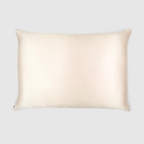 Queen Silk Zippered Pillowcase (Cream)