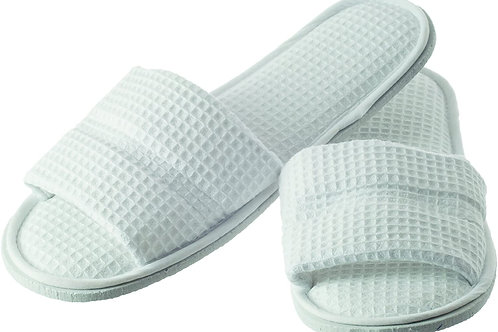 Hydrea London Waffle Cotton Spa Slippers large