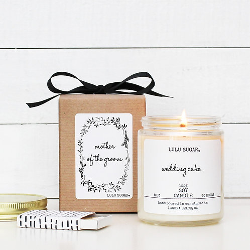 """MOTHER OF THE GROOM """"Bridal Bouquet"""" Scented Soy Candle"""