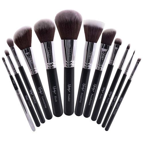 Masterful Collection Onyx Black Make-up Brush Set