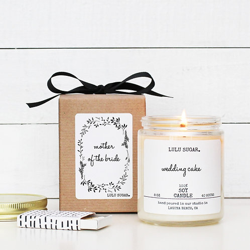 """MOTHER OF THE BRIDE """"Bridal Bouquet"""" Scented Soy Candle"""