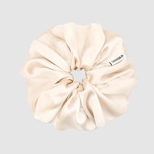 Oversized Nude Silk Scrunchie