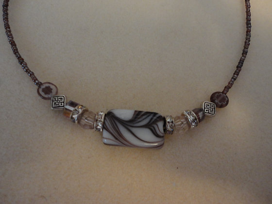 Swirled Focal Necklace