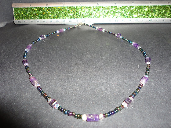 Short Purple Necklace/ N124