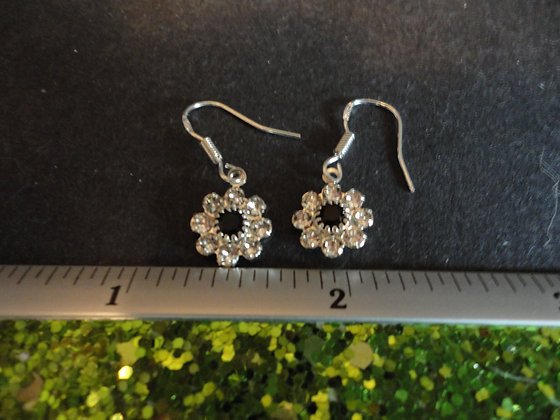 Crystal Flower Earrings / EW206