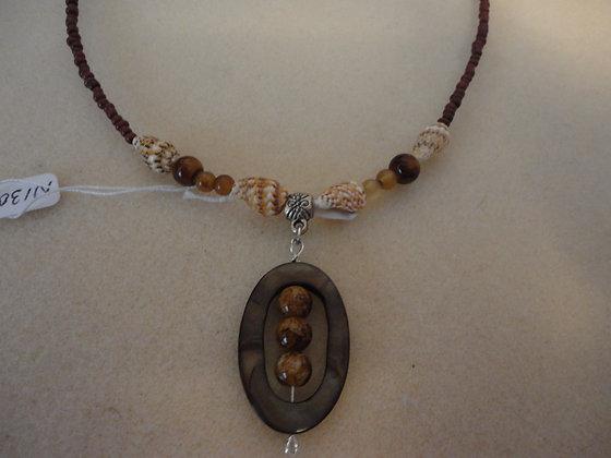 Brown Framed Necklace