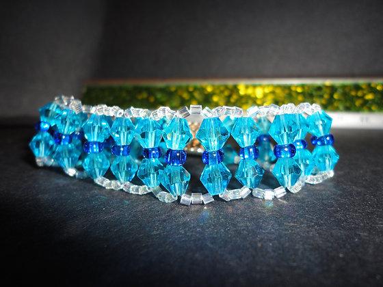 Blue,turquoise Squared Bracelet/B140