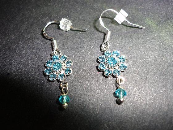 Crystal Swarovski earrings/ EW202