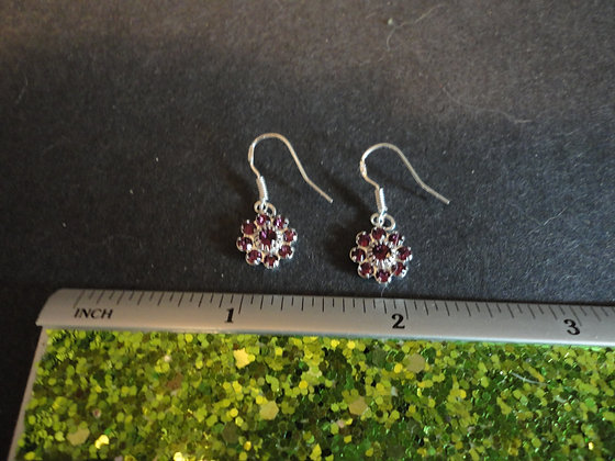Crystal Flower Earrings/ EW207