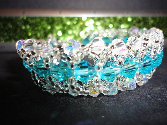 Light Blue Crystal Bracelet/ B125