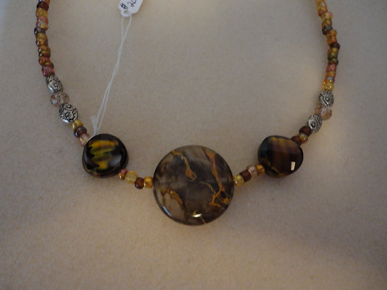 Swirled Brown Necklace