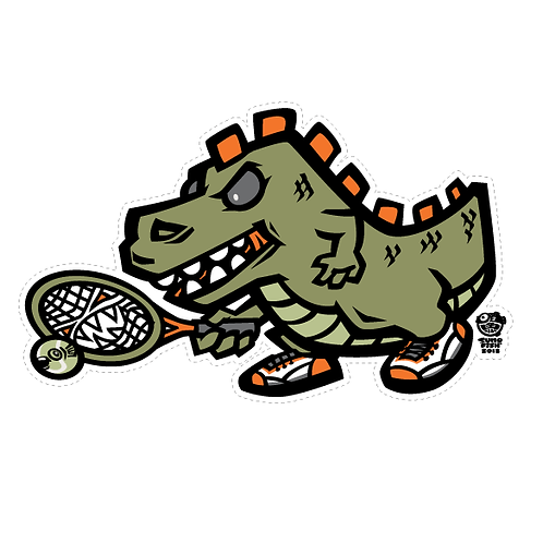 Tennis-zilla decal