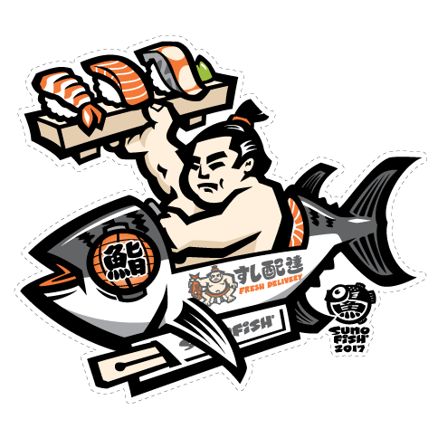 Sushi Delivery decal