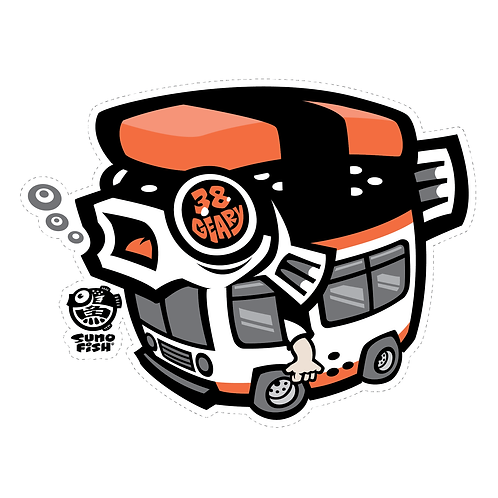 Fugu Musubi Bus decal