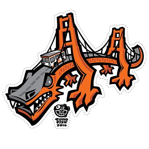Golden Gate Dragon decal
